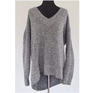 Nasty Gal Oversized Long Sleeve Sweater Gray Sz L